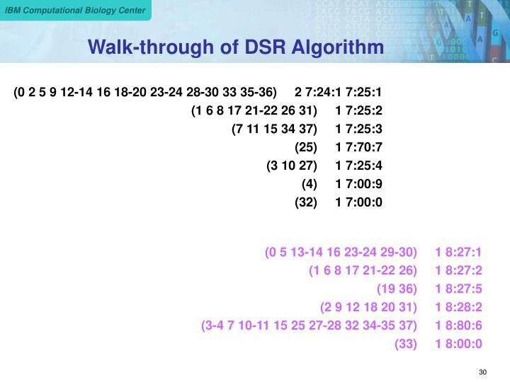 Walk-through of DSR Algorithm