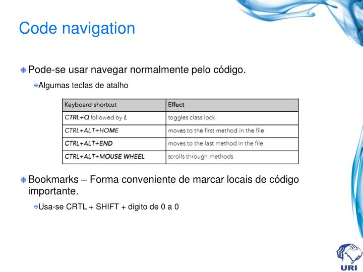 Code navigation
