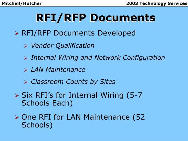 RFI/RFP Documents