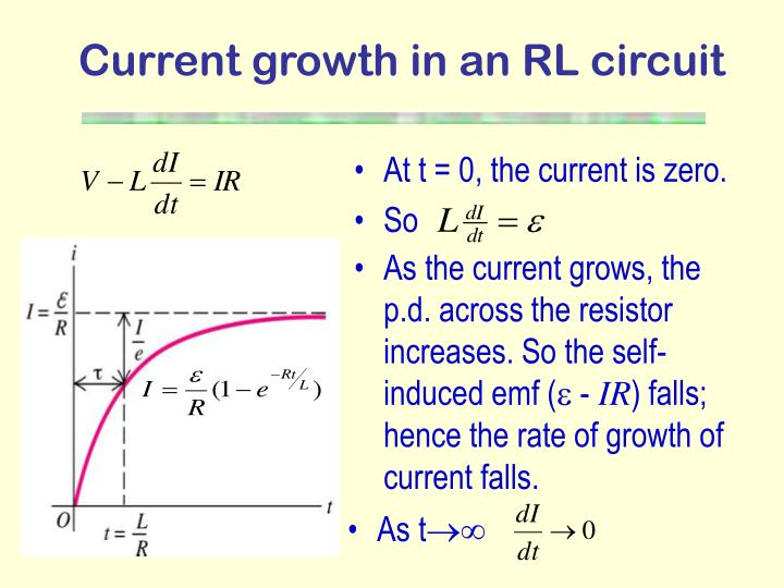 Current growth in an RL circuit