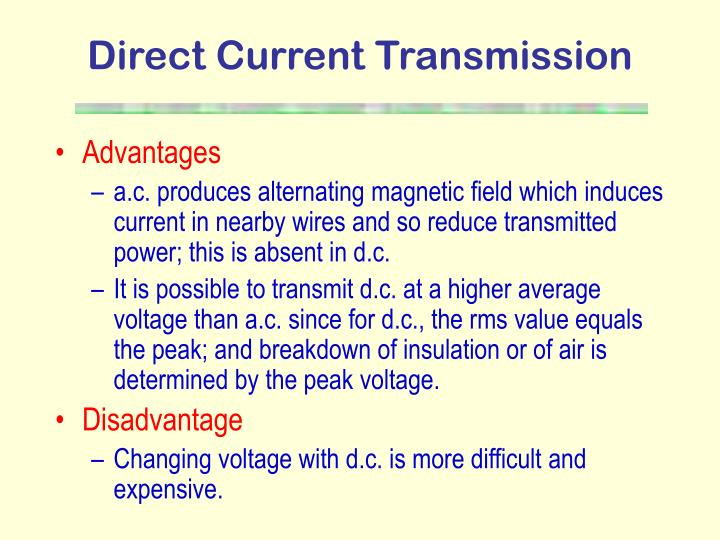 Direct Current Transmission