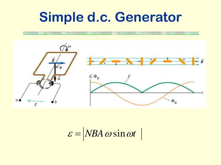 Simple d.c. Generator