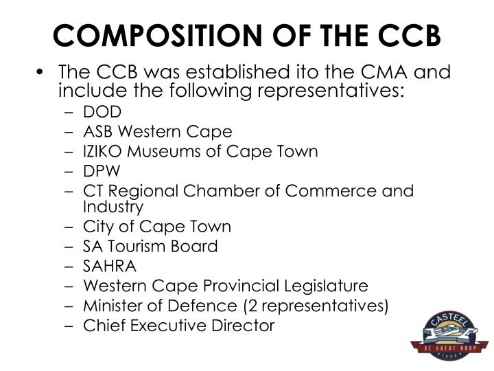 COMPOSITION OF THE CCB
