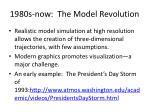 1980s now the model revolution