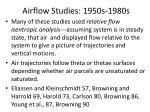 airflow studies 1950s 1980s