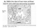 by 1860s the idea of two main airflows warm and cold was becoming accepted