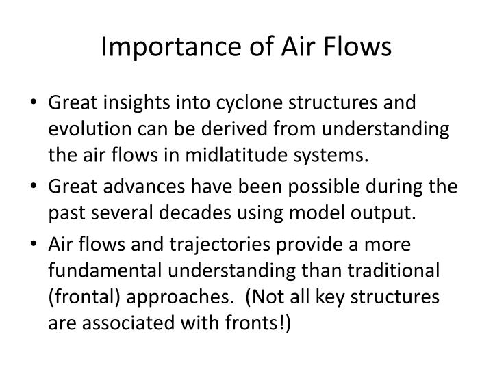 Importance of Air Flows