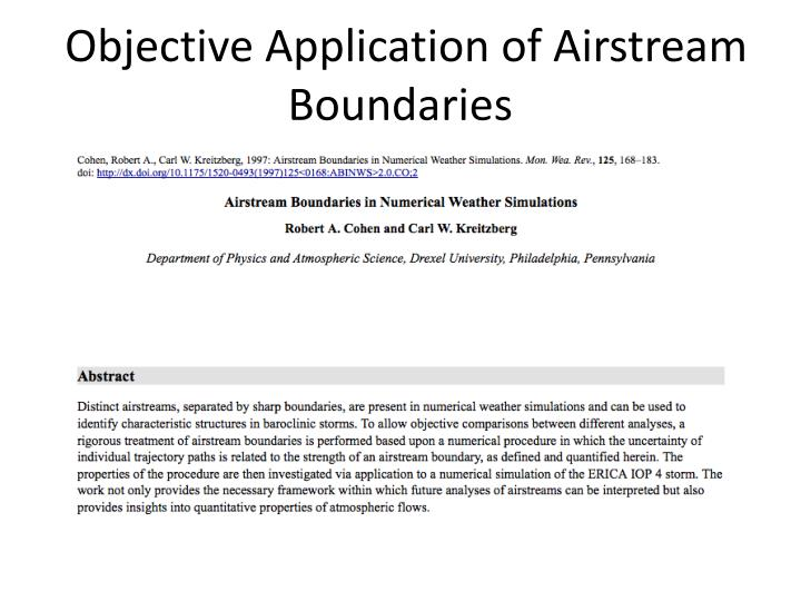 Objective Application of Airstream Boundaries