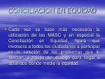 conciliacion en equidad