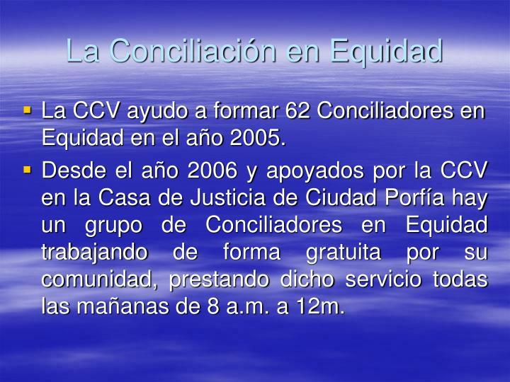La Conciliación en Equidad