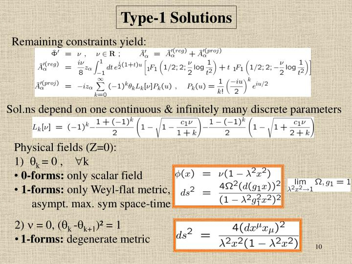 Type-1 Solutions