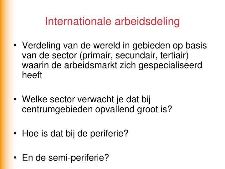 Internationale arbeidsdeling