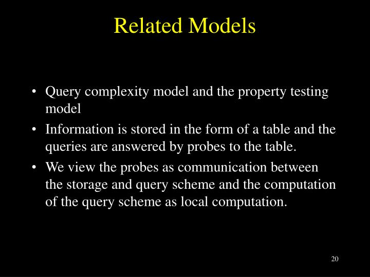 Related Models