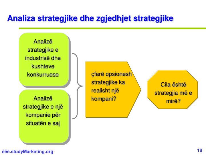 Analiza strategjike dhe zgjedhjet strategjike