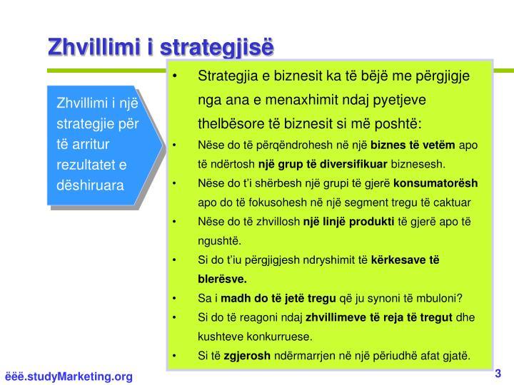 Zhvillimi i strategjisë