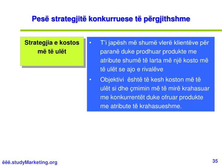 Pesë strategjitë konkurruese të përgjithshme