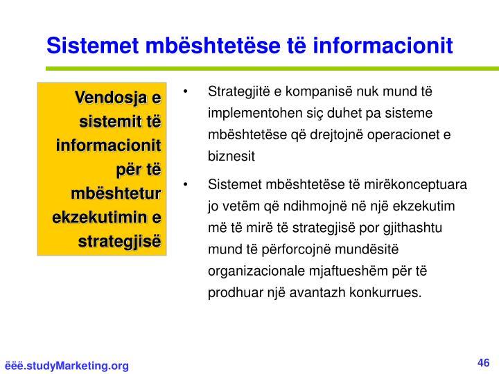 Sistemet mbështetëse të informacionit