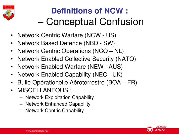 Definitions of NCW :