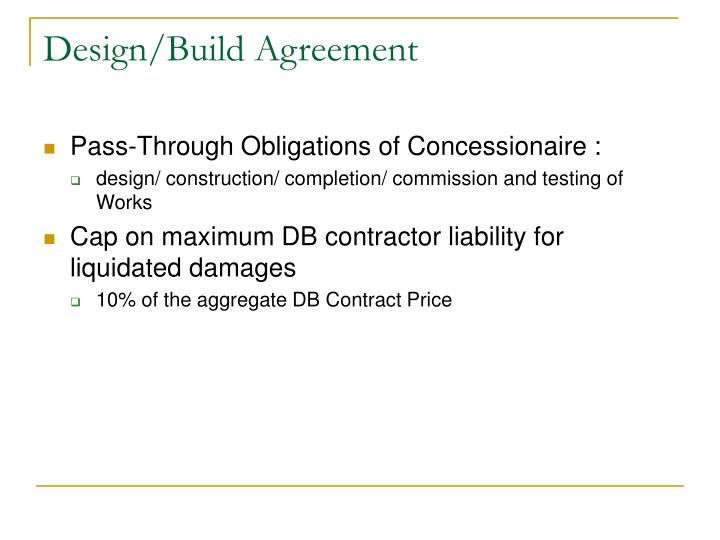Design/Build Agreement
