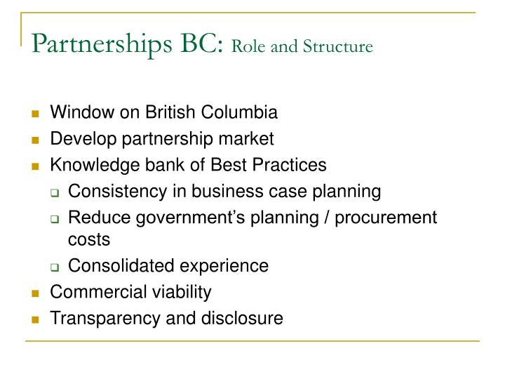 Partnerships BC:
