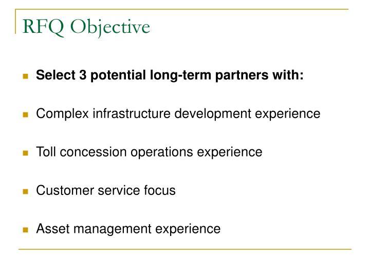 RFQ Objective