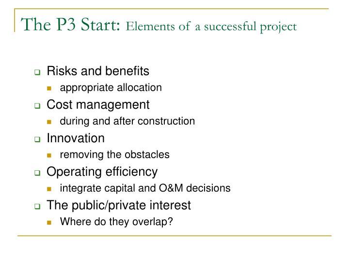 The P3 Start:
