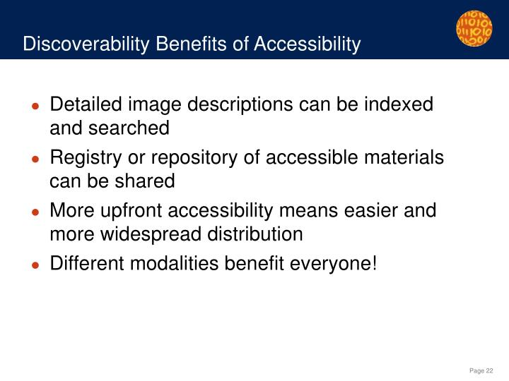 Discoverability Benefits of Accessibility
