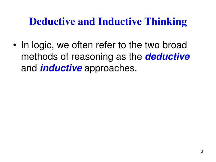 Deductive and Inductive Thinking