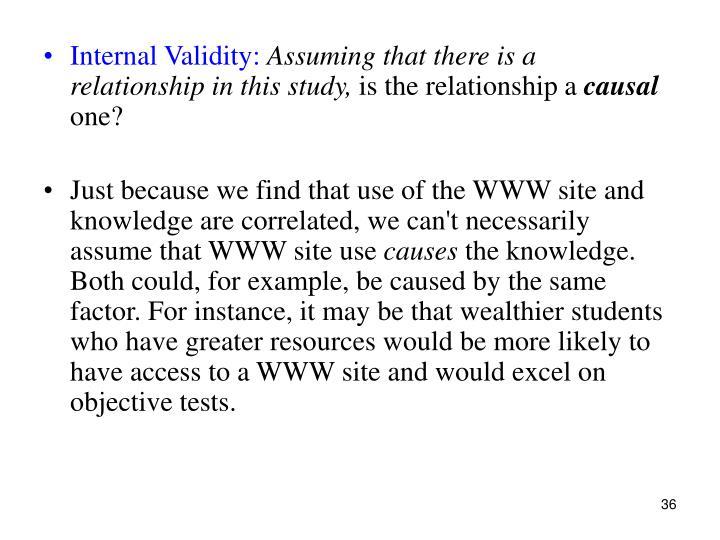 Internal Validity: