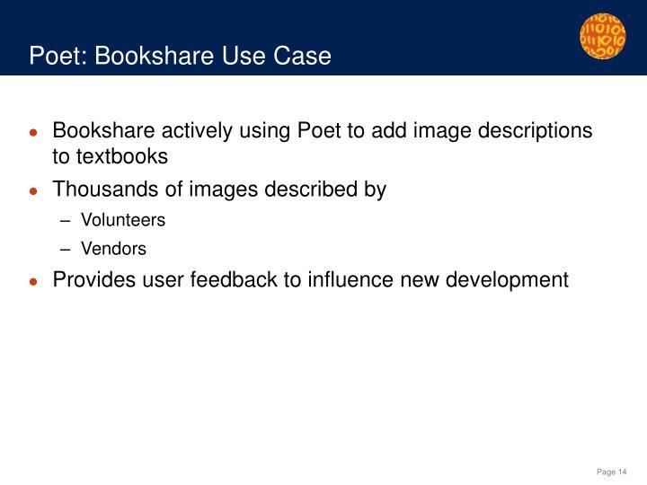 Poet: Bookshare Use Case