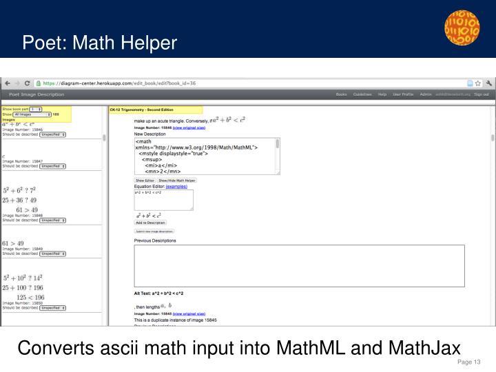 Poet: Math Helper