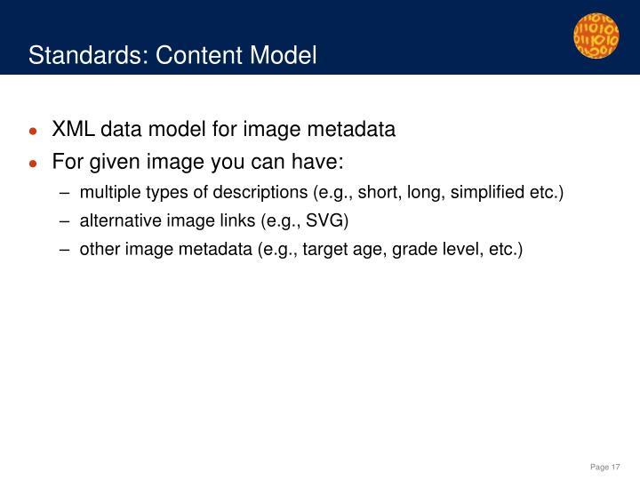 Standards: Content Model