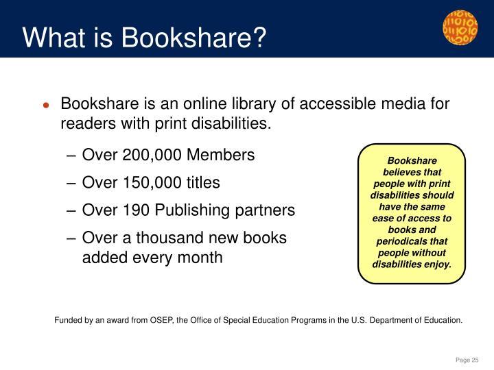 What is Bookshare?