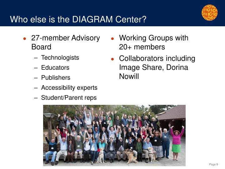 Who else is the DIAGRAM Center?