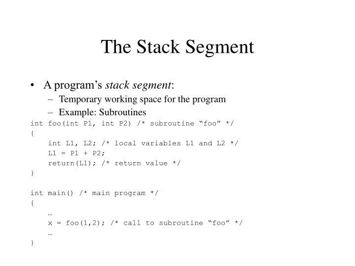 The Stack Segment