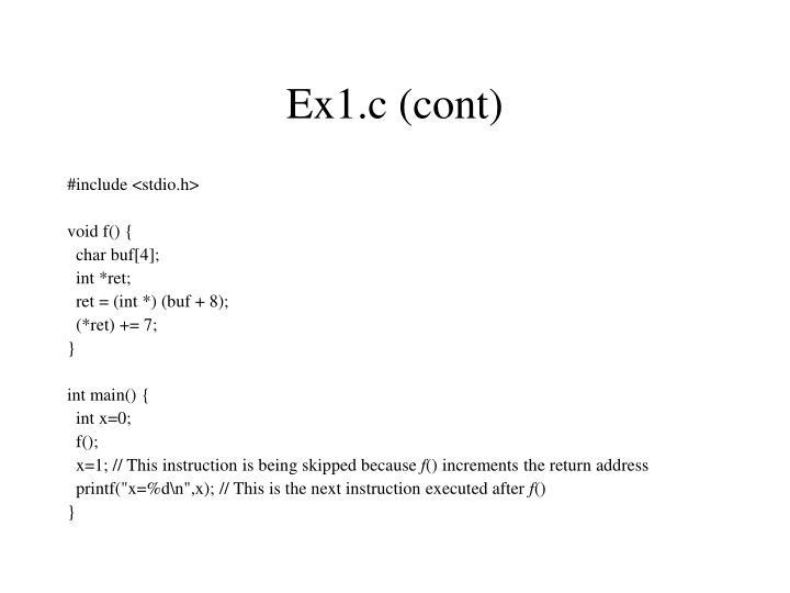 Ex1.c (cont)