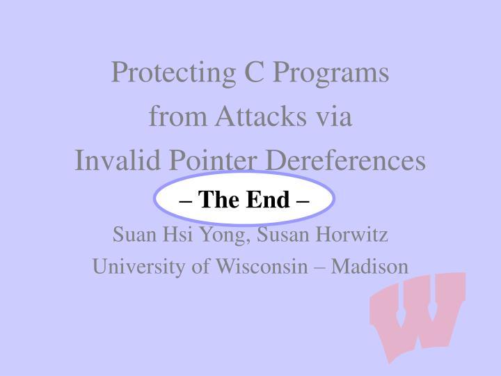 Protecting C Programs
