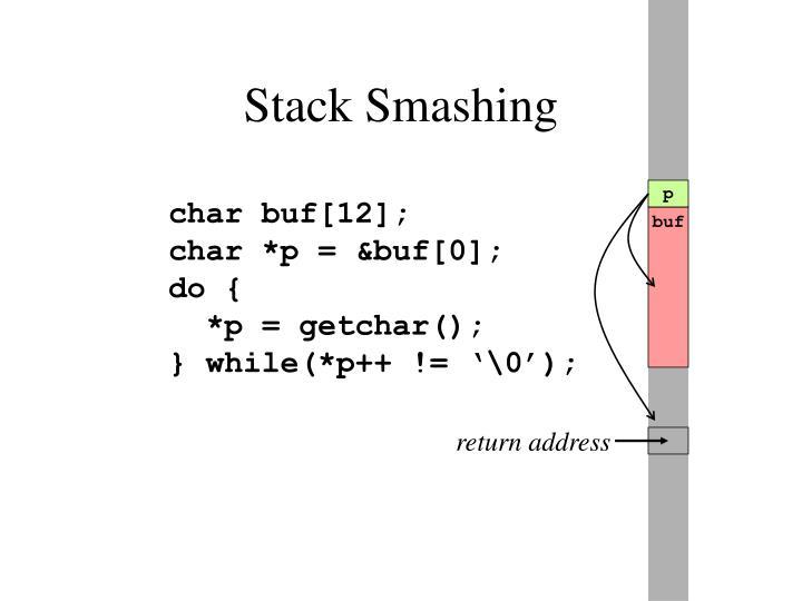 Stack Smashing