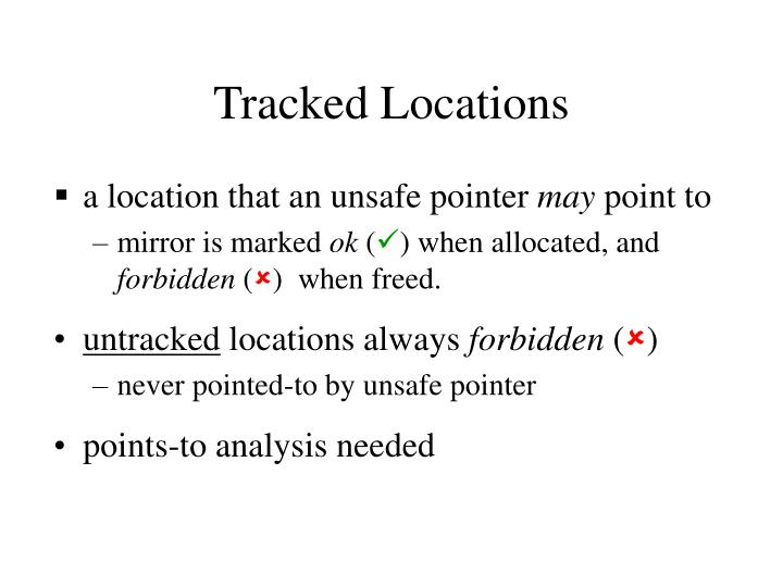 Tracked Locations