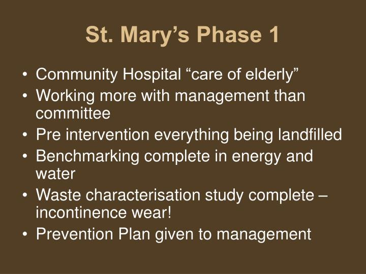 St. Mary's Phase 1
