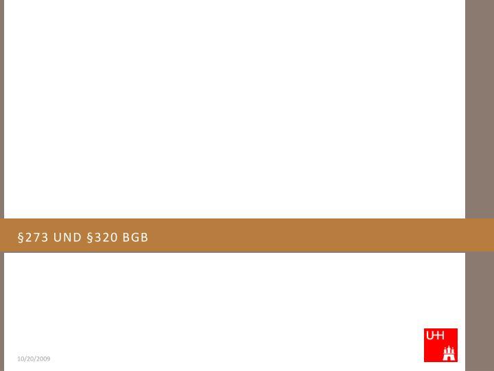 §273 und §320 BGB