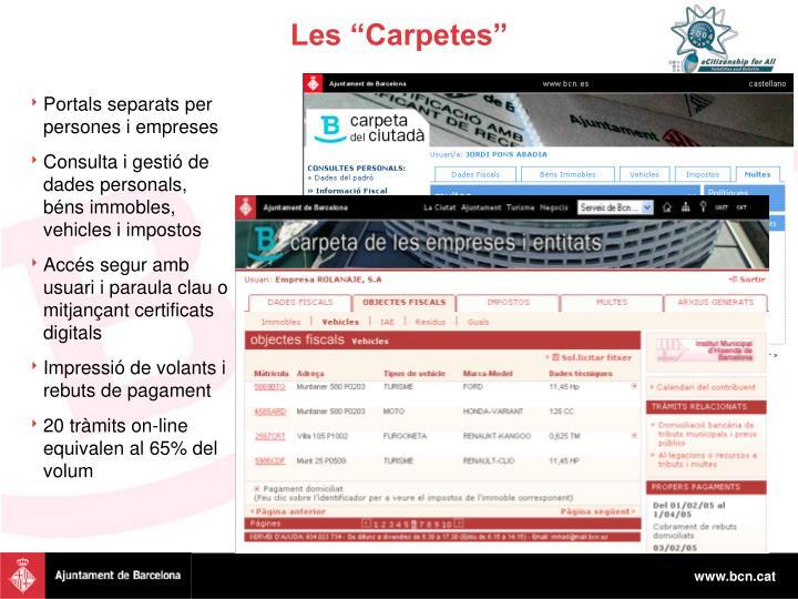 """Les """"Carpetes"""""""