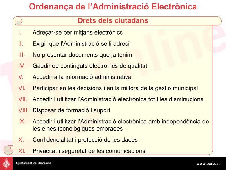 Ordenança de l'Administració Electrònica