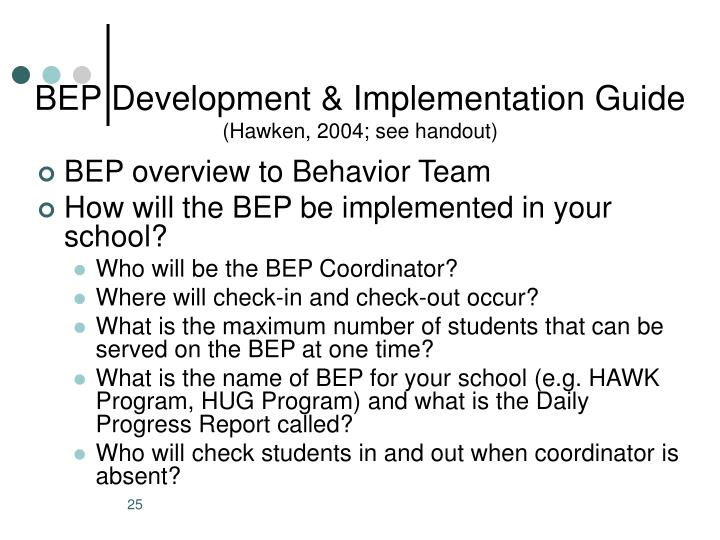 BEP Development & Implementation Guide