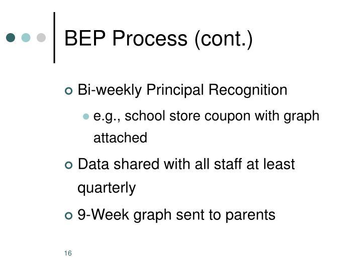 BEP Process (cont.)