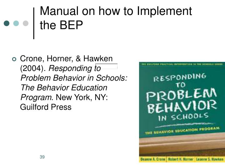Manual on how to Implement the BEP