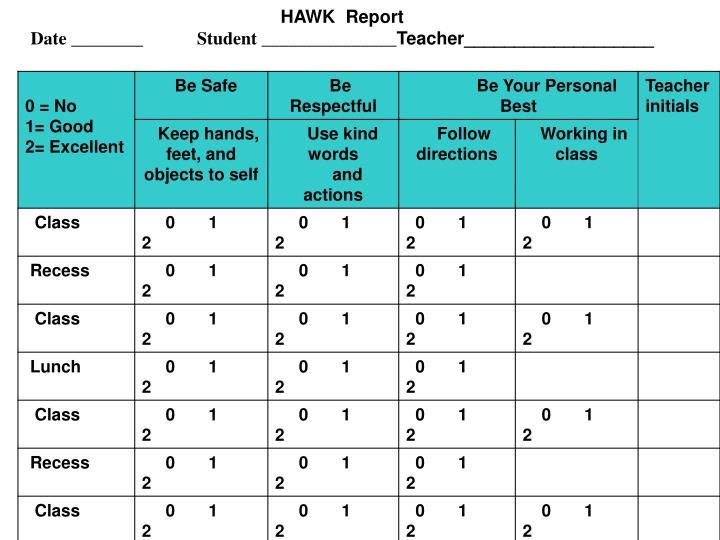HAWK  Report