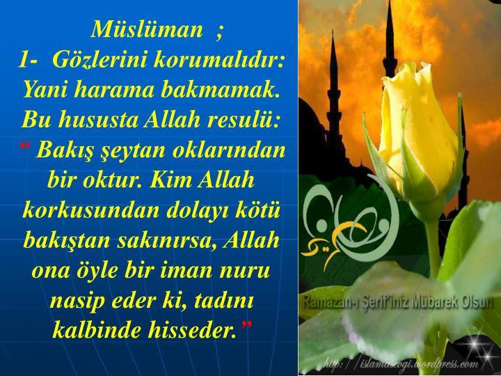 Müslüman  ;