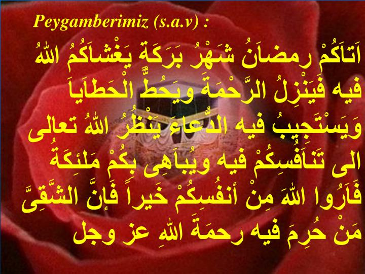 Peygamberimiz (s.a.v) :