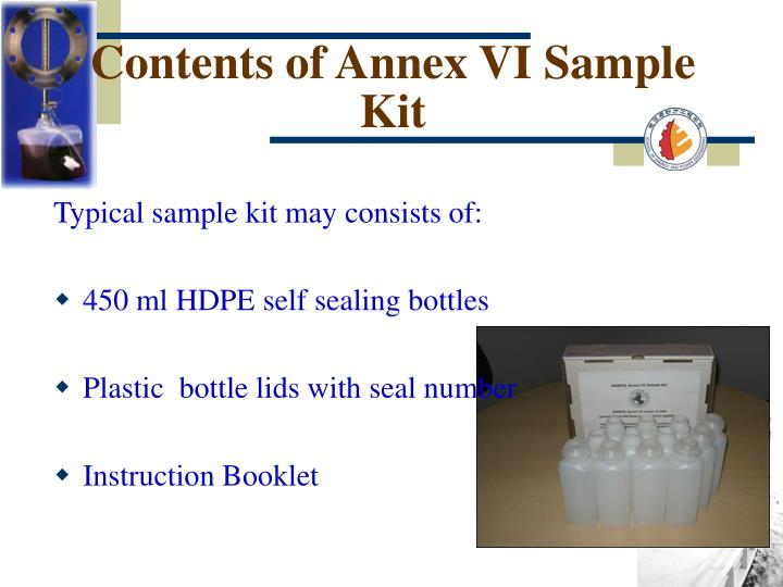 Contents of Annex VI Sample Kit